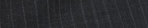 【Ib_8w217】チャコールグレーヘリンボーン+6ミリ巾白ドットストライプ