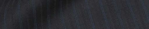 【Ib_8w541】ブラック柄+1cm巾ブルー・織り交互ストライプ