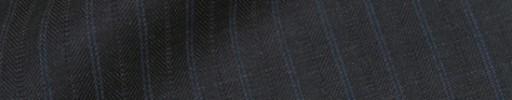 【Ib_8w542】ダークグレー柄+1cm巾ブルー・織り交互ストライプ