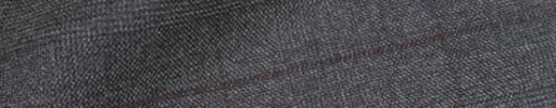 【Ib_8w557】ミディアムグレーチェック+5×4.5cmブラウンオーバープレイド