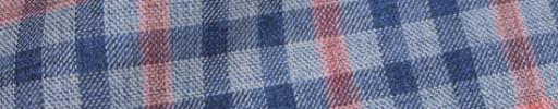 【Hs_oc9s02】ネイビー×レッド×ブルーグレー3.8×3.2cmタータン