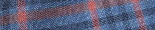 【Hs_oc9s03】ネイビー×ライトブルー×レッド9×4.5cmタータン