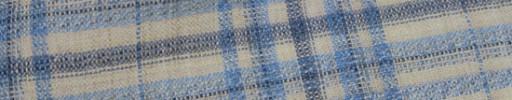 【Hs_oc9s09】ベージュ×ライトブルー×グレー7.5×6.5cmタータン