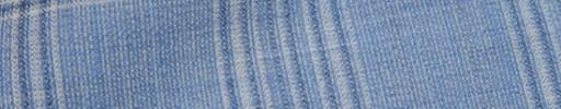 【Hs_oc9s16】ダスティーブルー・ホワイト・グレー6.5×5.5cmタータン