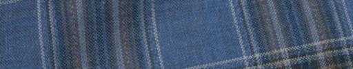 【Hs_oc9s20】ブルーグレー×ブラウン×白6.5×5.5cmタータン