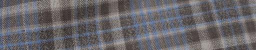 【Hs_oc9s21】ブラウン×ブルーグレー6.5×5.5cmタータン