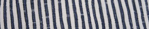 【Hs_oc9s48】白×ダークブルーグレー2ミリ巾よろけ縞