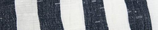 【Hs_oc9s49】白×ダークブルーグレー1.5cm巾よろけ縞