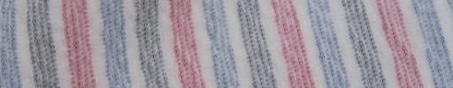 【Hs_oc9s57】レッド・ライトブルー・グレー5ミリ巾サッカーストライプ