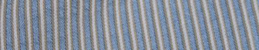 【Hs_oc9s63】ライトブルー+5ミリ巾ブラウンミックスサッカーストライプ