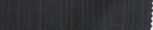 【Sp_9s10】チャコールグレー+1.5cm巾ブルーイレギュラーストライプ