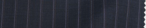 【Sp_9s16】ダークブルーグレーピンチェック+1cm巾白・パープルストライプ