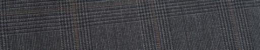 【Ca_91s35】グレー5.5×3.5cmグレンチェック+ブラウンプレイド