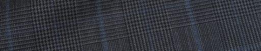 【Dov_0s43】グレー黒5×4cmグレンチェック+ブルーグレープレイド