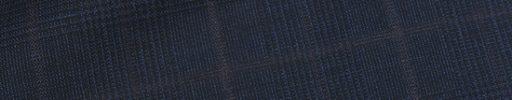 【Dov_0s44】ダークネイビー黒5×4cmグレンチェック+ラセットブラウンプレイド