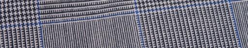 【Hf_9s09】白黒10.5×8.5cmグレンプレイド+ブルーチェック