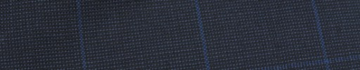 【Hf_9s25】ダークブルーグレーピンチェック+4.5×4cmブルーペーン