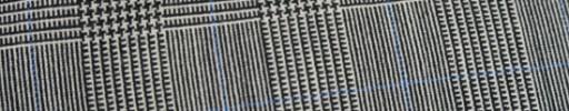 【Hf_9s26】白黒5.5×4cmグレンチェック+ブルーペーン