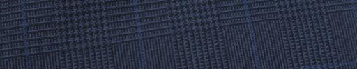 【Hf_9s27】紺黒5.5×4cmグレンチェック+ブルーペーン