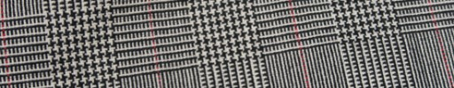 【Hf_9s28】白黒5.5×4cmグレンチェック+レッドペーン