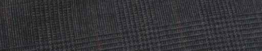 【Hf_9s29】チャコールグレー5.5×4cmグレンチェック+エンジペーン