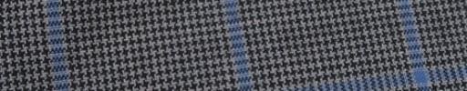 【Hf_9s30】グレー黒ハウンドトゥース+6×4.5cm水色ペーン