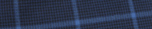 【Hf_9s31】紺黒ハウンドトゥース+6×4.5cm水色ペーン
