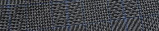 【Hf_9s64】グレー黒グレンチェック+5.5×4.5cmブループレイド