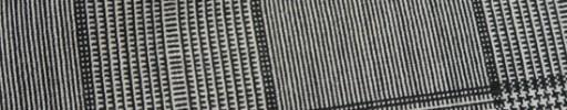 【Hf_9s74】白黒10.5×8.5cmグレンプレイド