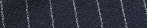 【Hf_9s81】ダークブルーグレー+2cm巾白ボールドストライプ