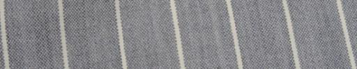 【Hf_9s85】ライトグレー+2cm巾白ボールドストライプ