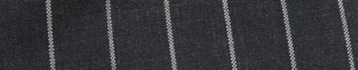 【Hf_9s86】チャコールグレー+2cm巾白ボールドストライプ