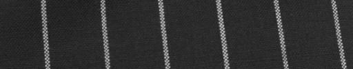 【Hf_9s88】ブラック+2cm巾白ボールドストライプ