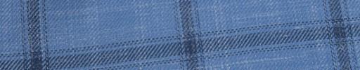 【Hr_in9s11】ライトブルー+6×5cmブラックチェック