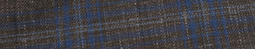 【Hr_in9s20】ダークブラウン+7×6cmブルー・ライトブルーミックスチェック