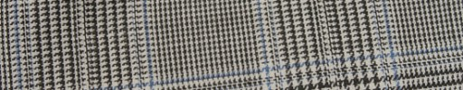 【Hr_in9s24】オフホワイト・黒8×6.5cmグレンチェック+ブループレイド