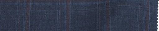【Lo_8s03】ライトネイビー+4×3.5cm赤・ブループレイド