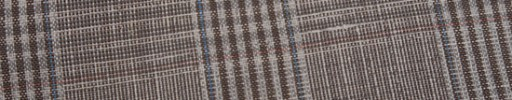 【Myj_9s28】ブラウンファンシーチェック+6.5×6cmダスティーブループレイド