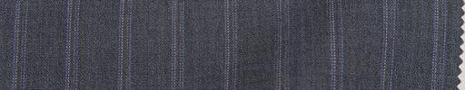 【Zel_0s04】ミディアムグレー+1.5cm巾パープルドット・織りストライプ