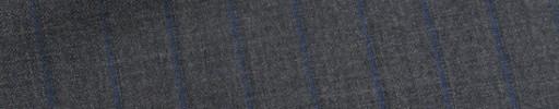 【Bh_9s51】ミディアムグレー+1.2cm巾ブルーストライプ