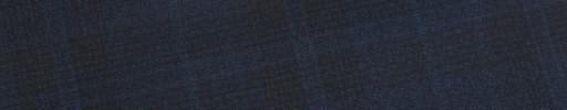 【E_9s571】ネイビー・黒6.5×5cmファンシーチェック+ブループレイド