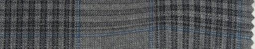 【Mp_9s01】グレー8.5×7.5cmチェック+ブループレイド