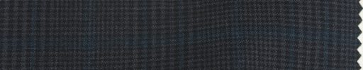 【Dol_9s71】ダークグレー7×5cmファンシーチェック+ブループレイド