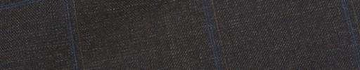 【Ca_91w23】ダークブラウン+6×4.5cmブルー・織りペーン