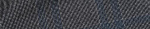 【Ca_91w038】グレーヘアライン+6.5×6cmダスティーブルー+グレーチェック