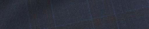 【Ca_91w039】ネイビーヘアライン+6.5×6cmこげ茶+ブルーチェック