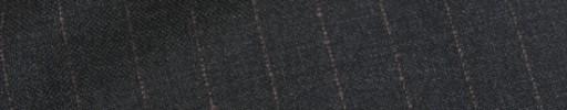 【Ca_91w040】チャコールグレー+1.3cm巾ライトブラウンストライプ