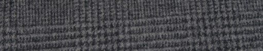 【Fb_w24】ミディアムグレー・黒7.5×5.5cmグレンチェック
