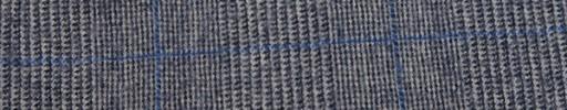 【Fb_w36】ブルーグレー・黒7.5×5.5cmグレンチェック+ブルーペーン