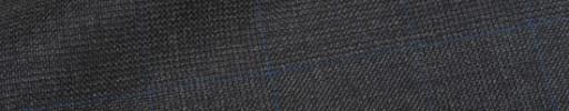 【Hre_9w01】チャコールグレー6.5×5.5cmグレンチェック+ブルーペーン